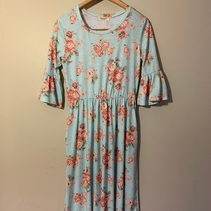Roolee Turquoise floral dress